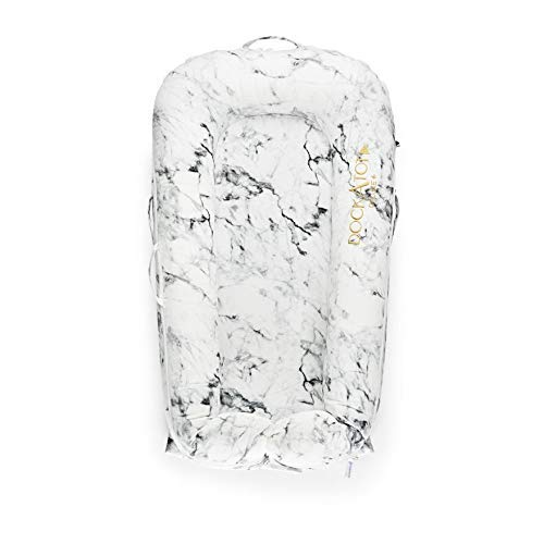 DockATot Deluxe+ Dock (Carrara Marble) - The All in One Baby Lounger,...