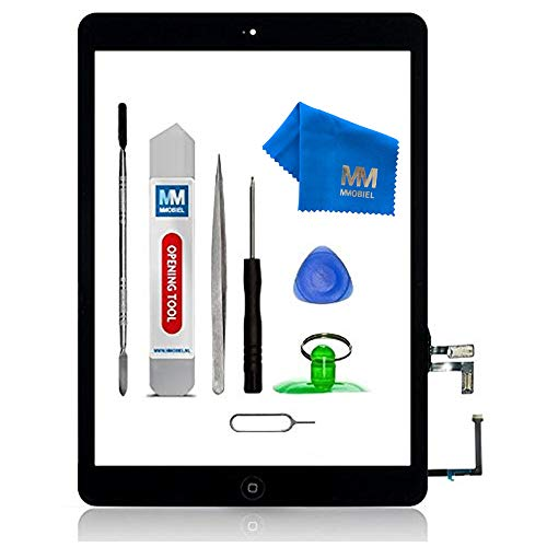 MMOBIEL Digitalizador Compatible con iPad Air 9.7 Plg. 2013 (Negro) Ensamble Pantalla táctil Frontal 9.7 pulg. Incl. Kit de htas.