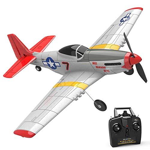 CT-Tribe - Aereo radiocomandato (P-51D Mustang), 2,4 GHz, 4 CH con sistema Xpilot Gyro, modello...