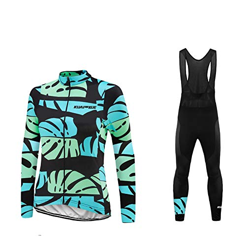 Uglyfrog Spring Autumn Women Cycling Clothing Set Sportswear Road Mountain Bicycle Bike Outdoor Full Zip Long Sleeve Cycling Jersey + 3D Padded Pants Trousers Breathable Quick-Dry