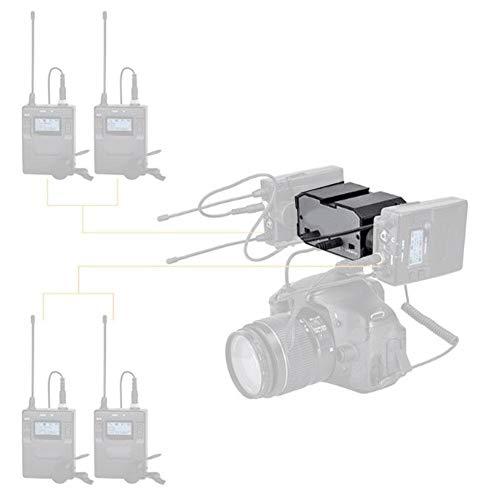 Mixer Audio per videocamera, Adattatore Audio Stereo per Microfono DSLR Adattatore per Amplificatore per Microfono a Doppio Canale con Jack da 3,5 mm per telecamere