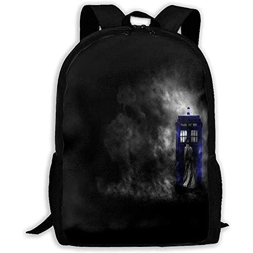 Schulranzen,Rucksack Für Mädchen Jungen Doctor Who Hd Wallpapers Reißverschluss Schule Bookbag Daypack Reiserucksack Sporttasche Für Mann Frauen