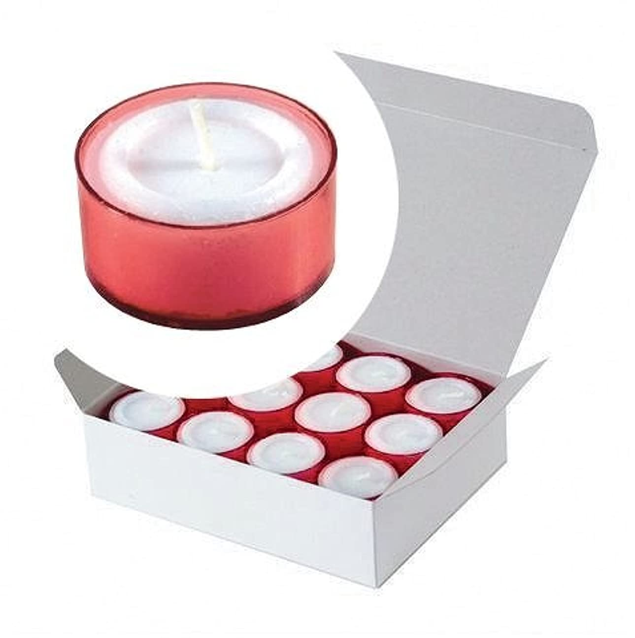 未使用省アクロバットカメヤマキャンドル(kameyama candle) カラークリアカップティーライト24個入り 「 レッド 」