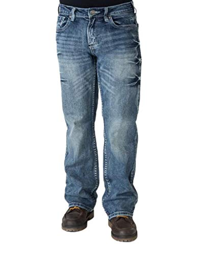 B. Tuff Western Jeans Mens Monster Mike 34 Reg Med Wash MRMIKE