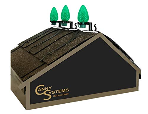 Canny Systems Christmas Light Clips for Roof Ridge Line (Qty 25)