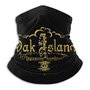 Oak Island Treasure Hunters Unisex Face Mask Microfiber Neck Warmer Neck Gaiter Black Bandana Balaclava