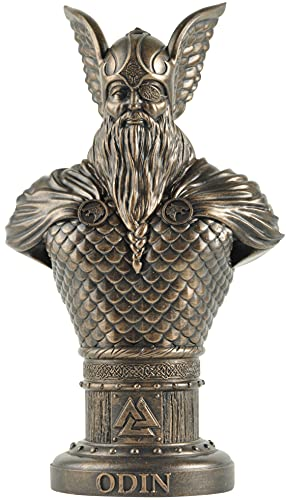 Odin Norse God Bust Collectible Figurine Norse and Germanic Mythology Decor Gifts