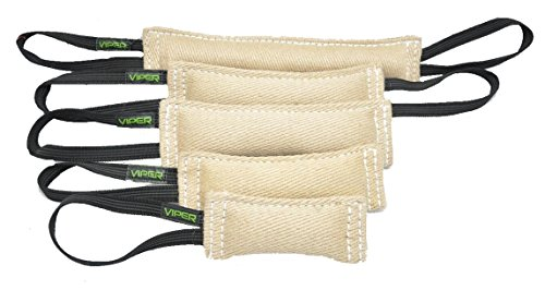 Viper Jute K9 Tug Toy Reward with One Or Two Handles for Adult Dogs and Puppies (2 Handles, 12' x 2in