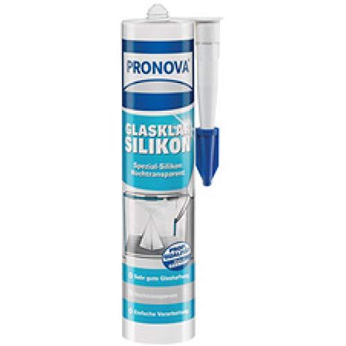 Pronova–Klar wie das Glas Glas-Silikon 300ml, transparent