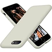 Cordking iPhone 7Plus Phone Case, iPhone 8 Plus Case, Silicone Ultra Slim Shockproof Phone Case with [Soft Anti-Scratch Microfiber Lining], 5.5 inch, Stone