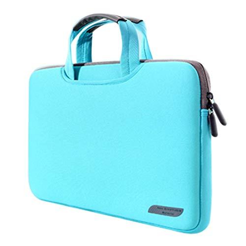 Handtasche 15,6 Zoll Tragbarer luftdurchlässigem Hand Sleeve Tasche for Laptops, Größe: 41.5x30.0x3.5cm (schwarz) ZHONGYI Zhongyi (Color : Green)