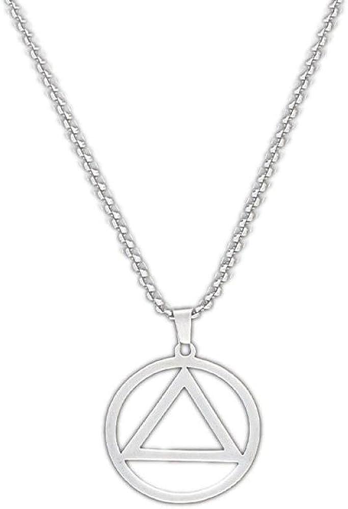 Triangular iron and titanium necklace pendant trend hanging jewelry