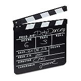 Relaxdays 10021346 Ciak Cinema in Legno, Clapperboard da Regista, Accessori Set Cinematografico, Lavagna HxL: 26 x 30 cm, Nero