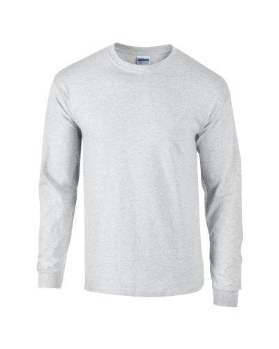 T-shirt à manches longues adultes Gildan Ultra Cotton ™ Ash 2XL