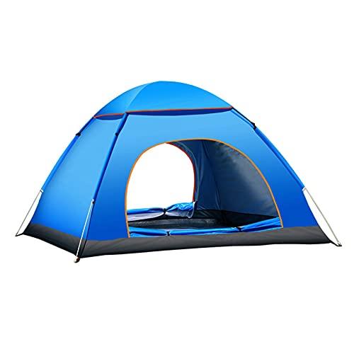 RYUNQ Camping Tent 3-4 Person Windproof Rain-Proof Pop-Up Tent Double Doors...