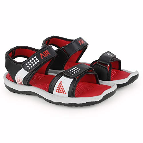 Creattoes Men & Boys Sandals, Casual Sandal, Walking, Lightweight Floaters Multi Color Red
