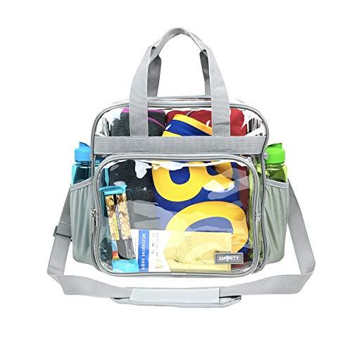 Robuste, durchsichtige Tasche für Schule / Arbeit / Reisen / Sicherheitsprüfung (12 x 6 x 12 cm)