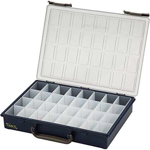 Boîte de rangement, taille 33,8 x 26,1 cm, 32 boîtes amovibles, 1 pièce, taille du trou 3,9 x 5,5 x 4,7 cm.