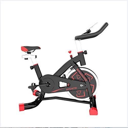 Bicicletta da Spinning Esercizio da Bici da casa Allenamento da Interno Bicicletta, Attrezzature Sportive, Dispositivo di Allenamento aerobico, può Essere Regolato Secondo Le proprie Esigenze,Rosso