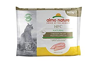 almo nature Megapack Lot de 6 boîtes de Nourriture Humide pour Chat HFC Natural – Filet de Poulet de 55 g (1 x 0,330 kg)