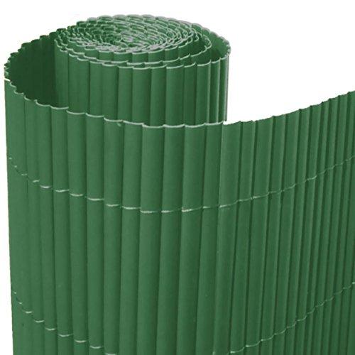 ITALFROM Arelle in Stuoia Canna Bamboo Arella PVC Singola Verde Recinzione Separè Rotolo H 100 X 300 cm 4990