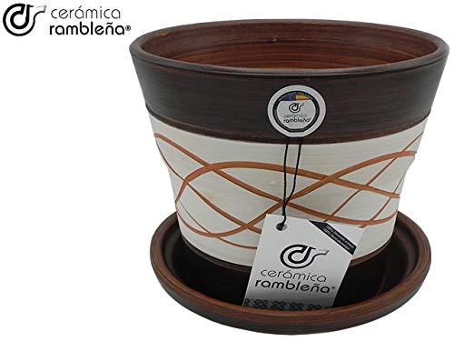 CERÁMICA RAMBLEÑA | Macetas de Barro Rojo | Macetas Decorativas | Macetas de cerámica | Macetas Exterior | Hilo-Nogal…