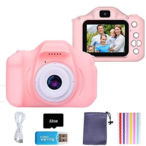 YUDOXN Set de Cámara de Fotos Digital para Niños con Juegos, Cámara Infantil con Tarjeta de Memoria Micro SD 32GB, Cámara Digital Video Cámara Infantil para Niños Regalos deCumpleaños, 1080P …