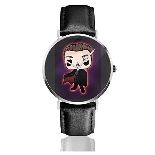 Relojes Anolog Negocio Cuarzo Cuero de PU Amable Relojes de Pulsera Wrist Watches Vinilo Pop Cardinal Copia