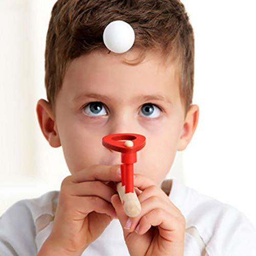 Juguetes de bola de tubo, Juegos clásicos de madera flotantes de balanza de balance, silbatos flotantes de bola de golpe juguetes para niños juguetes de fiesta recuerdos