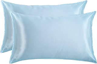 MindCare Memory Satin Pillowcases for Hair and Skin-Hypoallergenic,Wrinkle Free,Iron Free and Anti-snugging,Envelope Closu...