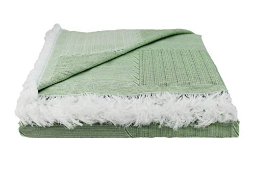 Desconocido Colcha Multiusos para Sofa, Manta Foulard, Plaid, cubrecama. (Verde, 180x290)