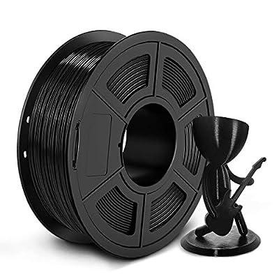 PETG Filament 1.75mm, JAYO PETG 3D Printer Filament 1kg Spool (2.2lbs), Accuracy +/- 0.02 mm, Stable Output Fit Most FDM Printers, PETG Black