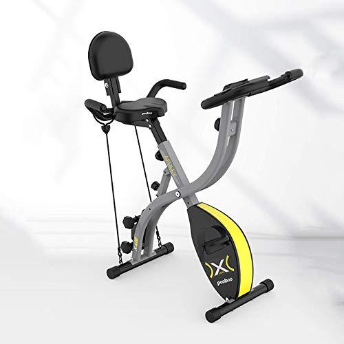 WGFGXQ Bicicleta estática Plegable de 130 kg, Bicicleta de Ciclismo Interior giratoria, Bicicleta estática con Monitor LCD, Entrenador doméstico