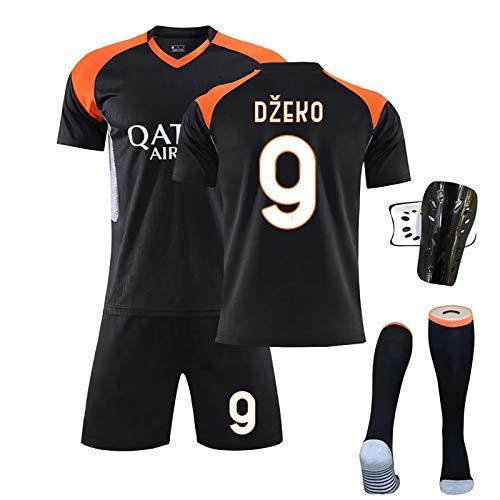 FDSEW Niños, niños, Adultos, niños, Uniformes de fútbol, Uniformes de competición No.9 Dzeko No.10 Totti, Uniformes de Entrenamiento, Camisetas para niños, Uniformes de Equipos 24 No.9