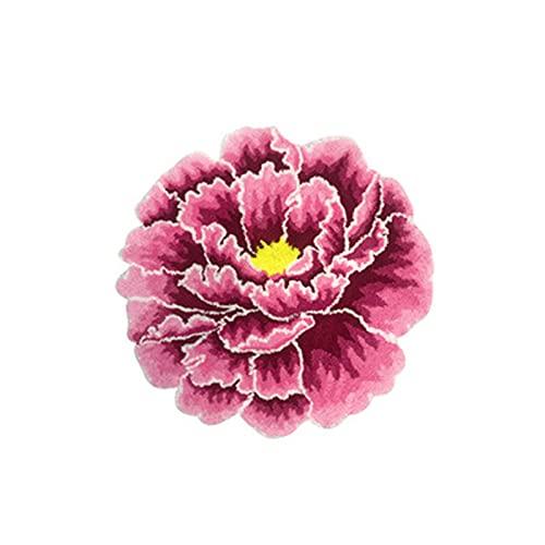 MMHJS Alfombra De Flores Rosadas Pastoral Nórdica para El Hogar Moderno, Alfombrilla Suave Antideslizante, Alfombrilla para Puerta De Entrada, Alfombrilla para Cabecera 60cm Diameter
