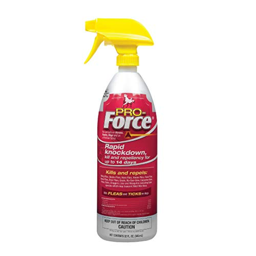 Manna Pro Pro-Force Fly Spray | Rapid Knockdown Fly Repellent for Horses | Repels More Than 70 Listed Species for up to 14 Days | 32 oz