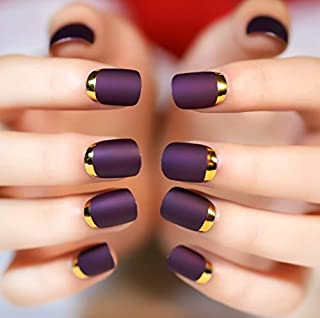 DIY Nail Goods Shine Surface Classic Sweet Carnival Short with Fake Nails Full Tips Finger Nails