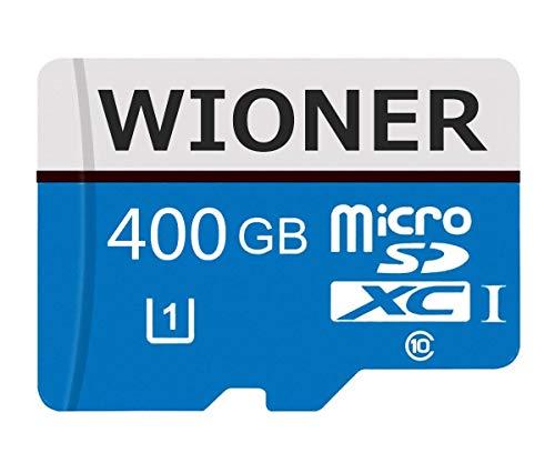 Genhao Tarjeta Micro SD de 128 GB/256 GB/400 GB/512 GB/1024 GB de alta velocidad clase 10 tarjeta Micro SD SDXC con adaptador (400 GB)