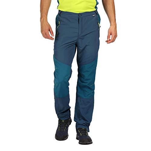 Regatta Herren-Wanderhose, Sungari, wasserabweisend, UV-Schutz, leichtgewichtig L Majolika-Blau/Meerblau