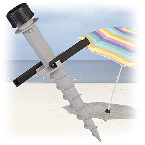 MovilCom - Soporte sombrilla Playa Giratorio   Pincho sombrilla Playa   Accesorios Playa   Base sombrilla   Pie sombrilla Jardin