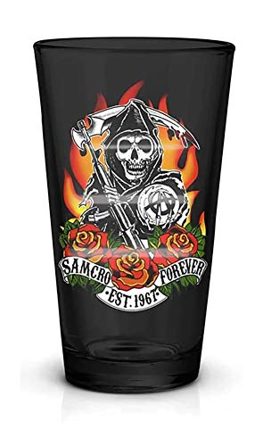 JUST FUNKY Sons of Anarchy Samcro Forever 16oz Pint Glass