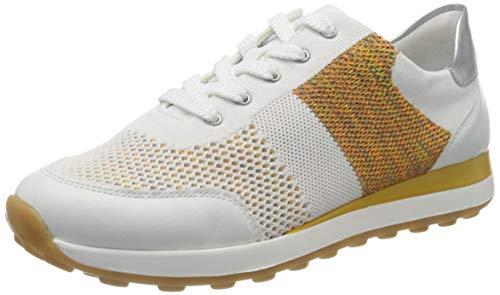 Remonte Damen D1812 Sneaker, Weiß (Weiss/Weiss-Multi/Silver 81), 40 EU