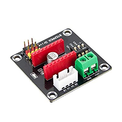 TeOhk 3D Printer 42CH Stepper Motor Driver Shield Expansion Board DRV8825/A4988 UNO R3(black)