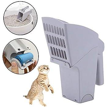 MEKEET Distributeur de litière pour Chat, Pelle à litière pour Chat Facile à Nettoyer avec Sacs à déchets pour Animaux domestiques