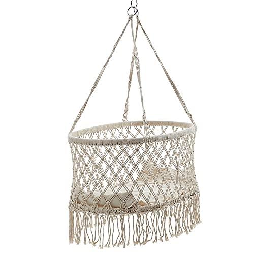 Puro algodón cuerda fluido corte de pelo silla otoño hamaca niños balancear cama interior al aire libre cesta niños columpio asientos transparentes