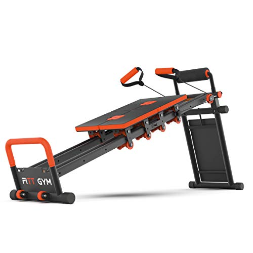 New Image FITTGym Nueva Imagen Fitt Gym MultiGym Máquina de Entrenamiento en casa, Plegable y fácil de Montar, posicionamiento Ajustable para Fitness Total, Naranja, L