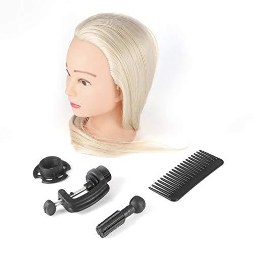 Kinshops 26 Pouces Light Golden Training Mannequin Head Hairdressers Dummy Hairstyles Long Hair Dolls Mannequin Head for Makeup Practice , Light Golden