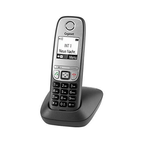 Gigaset Comfort - Schnurloses Telefon für Büro und Zuhause mit großem Display und Freisprechfunktion – einfache Bedienung, anthrazit-grau
