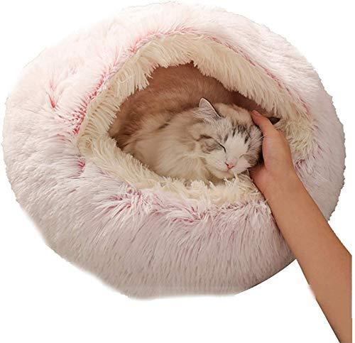 EREW Cama para mascotas, camas semicerradas, nido para mascotas de cuatro estaciones, aplicable a mascotas nido de felpa para mascotas un nido de dobl...