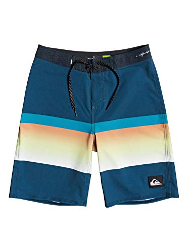 Quiksilver Boys' Big Highline Slab Youth 18 Boardshort Swim Trunk, Majolica Blue, 27
